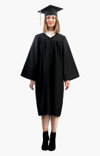 Мантия бакалавра с шапочкой цвет чёрный