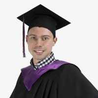 Мантия магистра с фиолетовым капюшоном