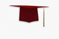 Мантия бакалавра с шапочкой цвет бордовый