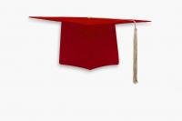 Мантия бакалавра с шапочкой цвет красный