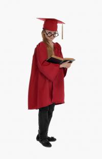 Детская мантия выпускника, цвет красный