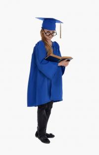 Детская мантия выпускника, цвет синий