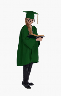 Детская мантия выпускника, цвет зелёный