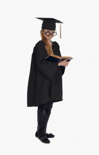 Детская мантия выпускника, цвет чёрный