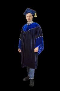 Мантия профессора, выпускника люкс (возможен прокат)