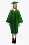 Мантия бакалавра с шапочкой цвет зелёный